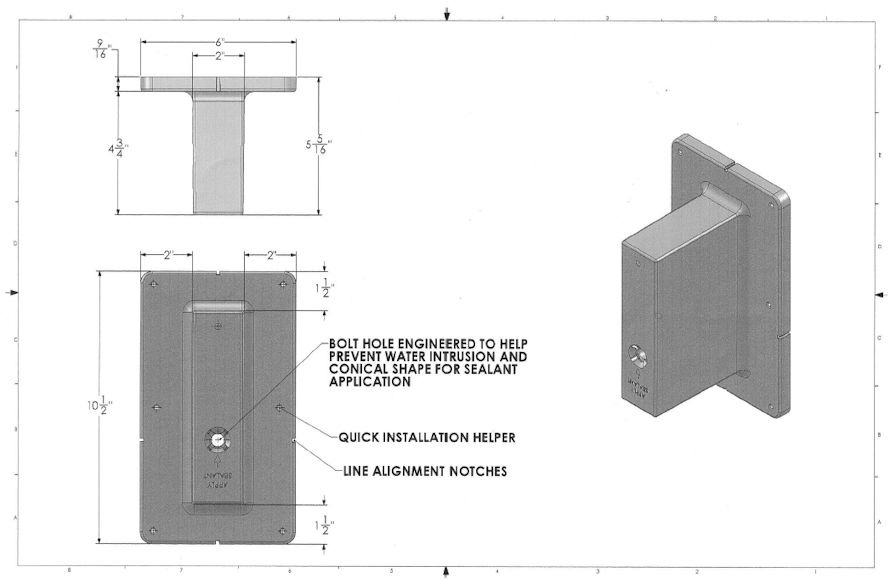 Brick Bracket Dimensions
